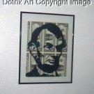 11 X 14 Abraham Lincoln art on REAL US Dollar Bills 1/1