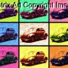 CANVAS VW BUG Volkswagon BEETLE pop art poster print limited signed coa 1-25