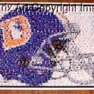 Amazing Denver Broncos 1980s helmet Montage. #ed to 25