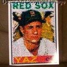 Boston Red Sox CARL YASTRZEMSKI rookie card Montage YAZ limited signed coa 1-25