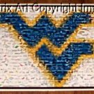 Amzing WVU West Virginia University Mountaineers Montage limited signed coa 1-25