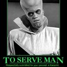 The Twilight Zone To Serve Man Motivational Poster