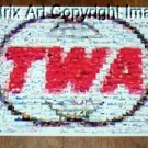 Amazing Vintage TWA logo Airline Airplane Montage limited signed coa 1-25