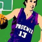 SC pop art print Phoenix Suns Steve Nash w/signed COA 1-25