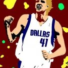 SC Dirk Nowitzki pop art print Dallas Mavericks w/COA 1-25