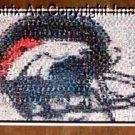 Amazing Denver Broncos Helmet Montage. 1 of only 25