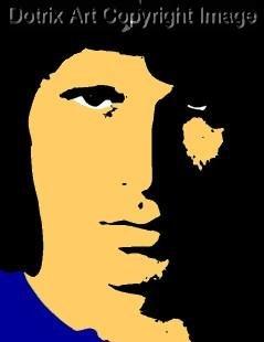 SC Jim Morrison Doors pop art print 1 of 25 signed COA