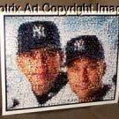 AMAZING Alex Rodriguez Derek Jeter NY Yankees Montage limited signed coa 1-25