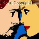 SC Brad Pitt & Angelina Jolie pop art print #ed w/COA 1-25
