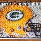 AMAZING Green Bay Packers Helmet Montage. WOW!!! limited signed coa 1-25