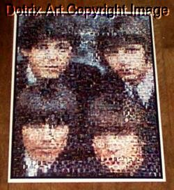 AMAZING The Beatles Fab Four Montage. LIMITED!!! signed coa 1-25