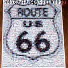 RARE Coke Coca Cola FORD Mustang Route 66 sign Montage limited signed coa 1-25