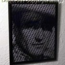 WORDIX framed John Wayne 8 X 10 amazing text art w/COA