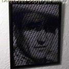 WORDIX framed John Wayne 8 X 10 amazing text art w/COA