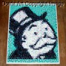 Amazing RARE Rich Uncle Pennybags face Monopoly Montage 1-25 signed coa
