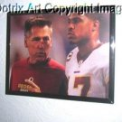FRAMED Jim Zorn Jason Campbell faux Oil Painting CANVAS