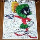 Amazing Marvin the Martian REAL flying saucers Montage limited signed coa 1-25