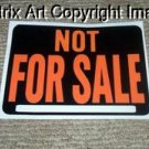 funny gag trick NOT FOR SALE sign classic car or junker