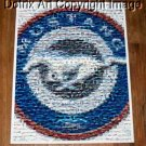AMAZING Ford Mustang 1964-2007 Montage art logo #ered 1-25