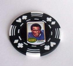 Walter Payton rookie card Vegas Poker Chip lim edition