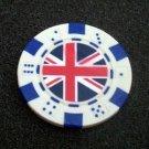 Union Jack British Flag Las Vegas Casino Poker Chip lim