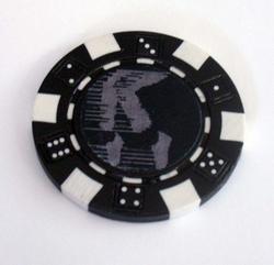 Michael Jackson MOONWALK Las Vegas Casino Poker Chip