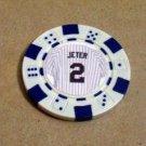 Derek Jeter JERSEY Las Vegas Casino Poker Chip LIMITED