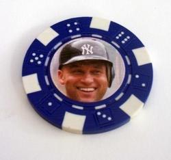 Derek Jeter Las Vegas Casino Poker Chip limited edition