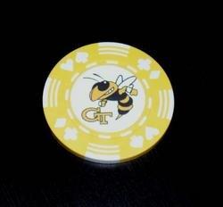 Georgia Tech Yellow Jackets Las Vegas Casino Poker Chip