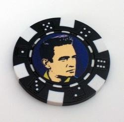 Johnny Cash Las Vegas Casino Poker Chip limited edition