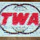 Amazing Vintage TWA logo Airline Airplane Montage