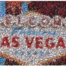 Fabulous Las Vegas Sign Poker Chip Mosaic Print w/COA