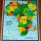 Amazing Map of Africa Wild Animals Montage LIMITED ED