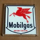 vintage Mobilgas sign Mobil Oil Pegasus Coaster C-Tray