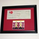 1/1 Framed 1960 Coca-Cola COKE Check with COA