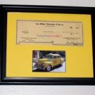 1/1 Framed 1951 Yellow Cab Company Check taxi with COA