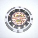Beatles Sgt. Peppers Drum Head laser effect Poker Chip