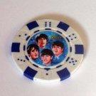 The Beatles blue Las Vegas Casino Poker Chip limited ed