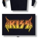 XL Kiss Classic Logo Hooded Fleece Hoodie black w/logos