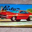 framed 1971 AMT Ford Pinto model wall art Boss 429 Pony
