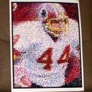 AMAZING John Riggins Washington Redskins Color Montage