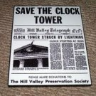 Back To The Future SAVE CLOCK TOWER framed prop display