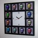 Abraham Abe Lincoln multi-color pop art Wall Desk Clock