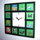 RARE Monopoly Board Clock with 12 pictures