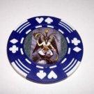 Las Vegas Baphomet Casino Poker Chip limited edition