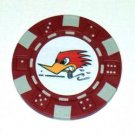 Clay Smith Cams Woodpecker Las Vegas Casino Poker Chip