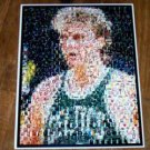 Amazing Boston Celtics Larry Bird NBA Montage #ed w/COA
