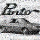 Amazing classic FORD Pinto montage signed and numbered