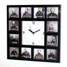 Civil War Union Generals Clock with 12 pictures RARE
