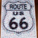 RARE Coke Coca Cola FORD Mustang Route 66 sign Montage